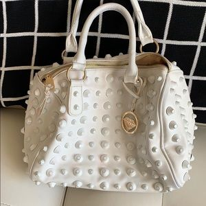 Handbags - White purse with studs